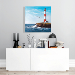 Canvas 24 x 24 - Lighthouse at the edge of the sea