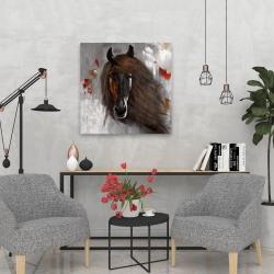 Canvas 24 x 24 - Proud brown horse