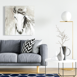 Canvas 24 x 24 - Beautiful abstract horse