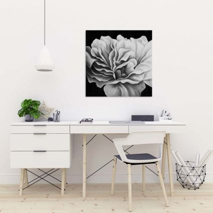 Beautiful black and white flower