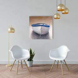 Canvas 24 x 24 - Canoe boat