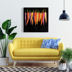 Canvas 24 x 24 - Carrots varieties