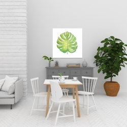 Canvas 24 x 24 - Tropical leaf
