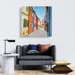 Canvas 24 x 24 - Colorful houses in italy