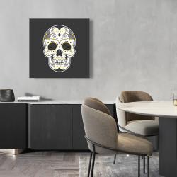 Canvas 24 x 24 - Mexican sugar skull art