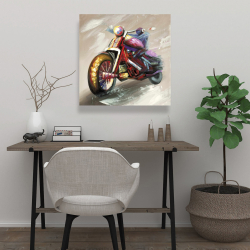 Canvas 24 x 24 - Abstract motorcycle