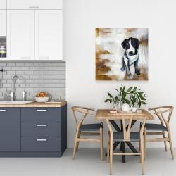 Canvas 24 x 24 - Sitting dog