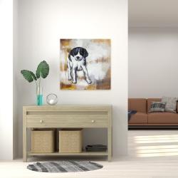 Canvas 24 x 24 - Curious puppy dog