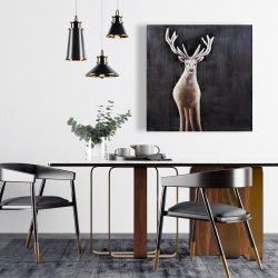Canvas 24 x 24 - Lonely deer