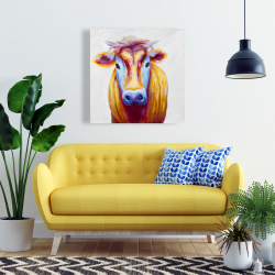 Canvas 24 x 24 - Colorful country cow