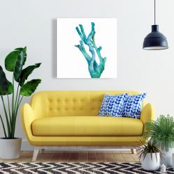 Toile 24 x 24 - Petit corail de mer à l'aquarelle