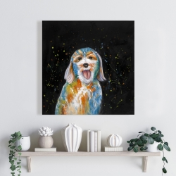 Canvas 24 x 24 - Abstract labradoodle
