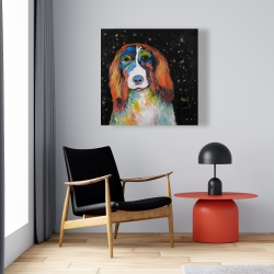 Canvas 24 x 24 - Colorful dog