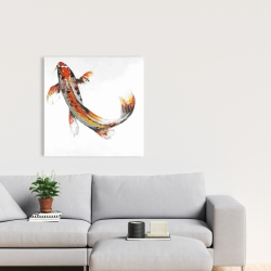 Canvas 24 x 24 - Butterfly koi fish