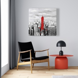 Canvas 24 x 24 - Empire state building of new york