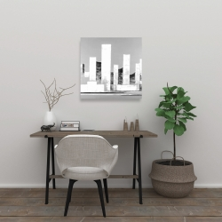 Canvas 24 x 24 - Minimalist abstract buildings