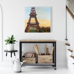 Canvas 24 x 24 - Eiffel tower by dawn