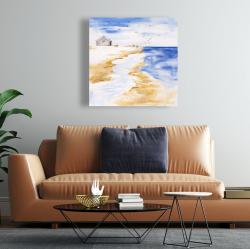 Canvas 24 x 24 - House on the beach
