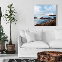 Canvas 24 x 24 - Seaside storm