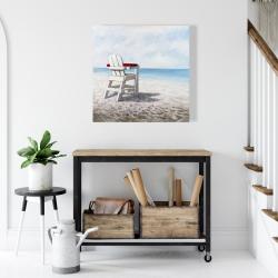 Canvas 24 x 24 - White beach chair