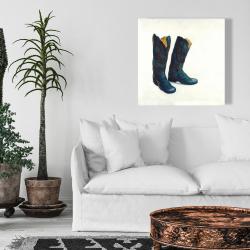 Canvas 24 x 24 - Leather cowboy boots