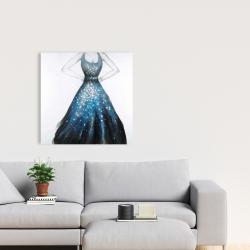 Canvas 24 x 24 - Blue princess dress