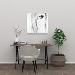 Canvas 24 x 24 - Black & white portrait