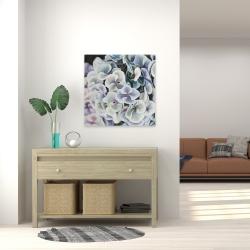Canvas 24 x 24 - Purple hydrangea flowers