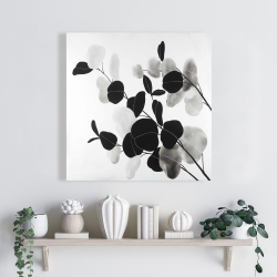 Canvas 24 x 24 - Grayscale branches with leaves