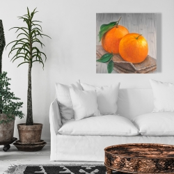 Canvas 24 x 24 - Two oranges