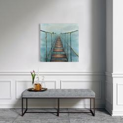 Canvas 24 x 24 - Old and dangerous bridge