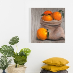 Canvas 24 x 24 - Bag of oranges