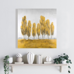 Canvas 24 x 24 - Seven abstract yellow trees