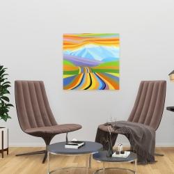 Canvas 24 x 24 - Mountain road multicolored