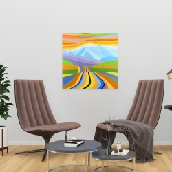 Canvas 24 x 24 - Mountain road multicolored