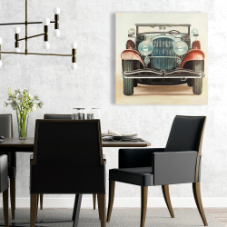 Canvas 24 x 24 - Old 1920s luxury car