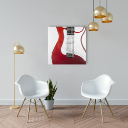 Canvas 24 x 24 - Red electric guitar