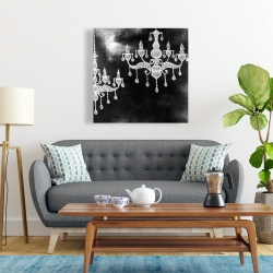 Canvas 24 x 24 - White chandeliers