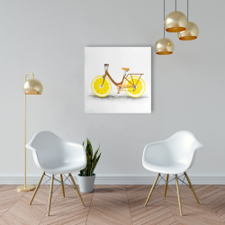 Canvas 24 x 24 - Lemon wheel bike