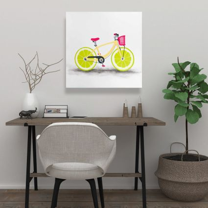 Lime wheel bike