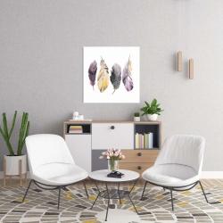 Canvas 24 x 24 - Bohemian feather set