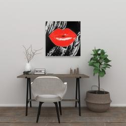 Canvas 24 x 24 - Pouty glossy lips