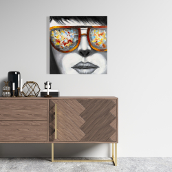 Canvas 24 x 24 - Colorful sunglasses