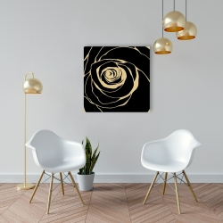 Canvas 24 x 24 - Black rose