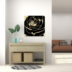Canvas 24 x 24 - Cutout black rose