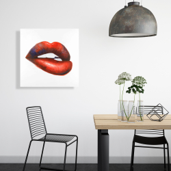 Canvas 24 x 24 - Beautiful red mouth