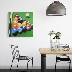 Canvas 24 x 24 - Pool table with ball formation