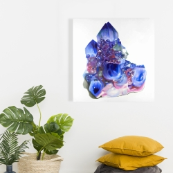 Canvas 24 x 24 - Blue and purple quartz cristal