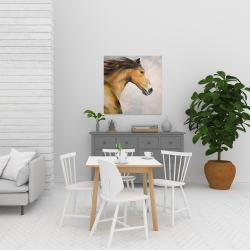 Canvas 24 x 24 - Proud steed with his mane in the wind