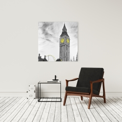 Canvas 24 x 24 - Outline of big ben in london